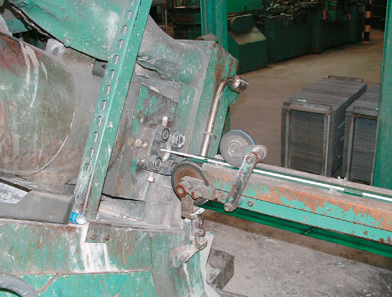 Electrodes are extruded from the press at Weldwell's Napier manufacturing plant