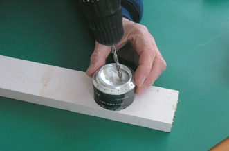 Drill filling hole off-centre