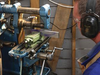 Cutting guard from flat bar on horizontal milling machine
