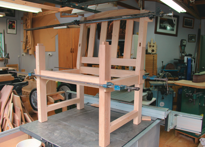 The glue up without the arm rests fitter
