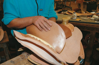 Roughout seat eased onto the latex