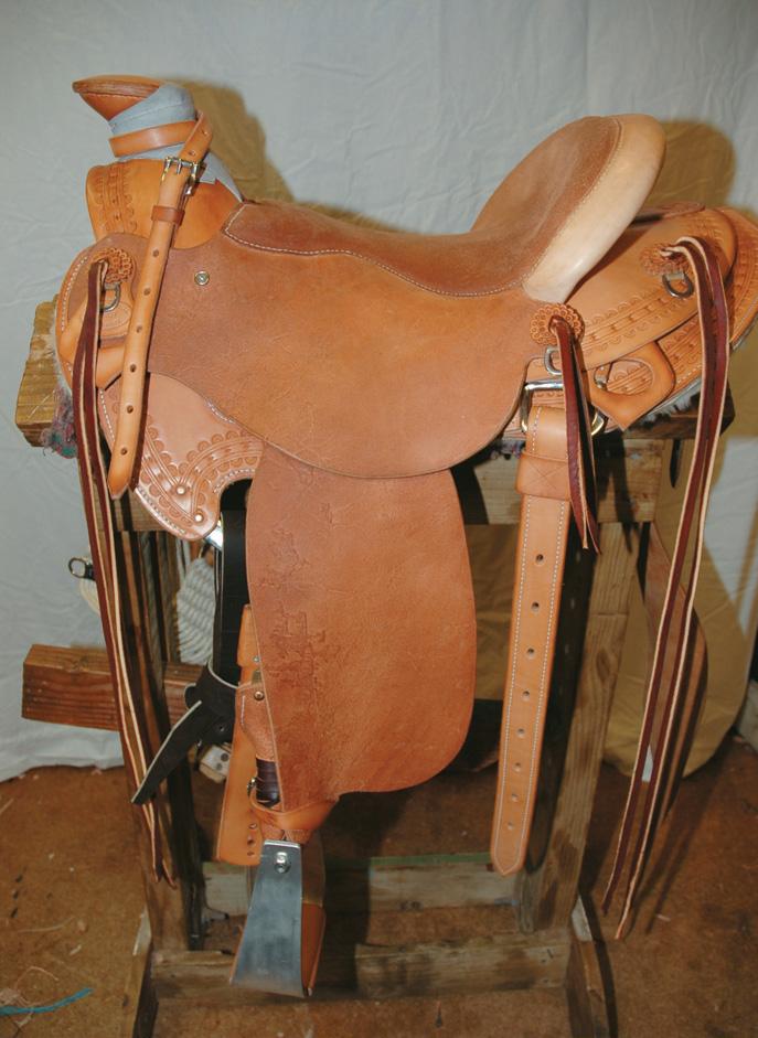 Finished western saddle