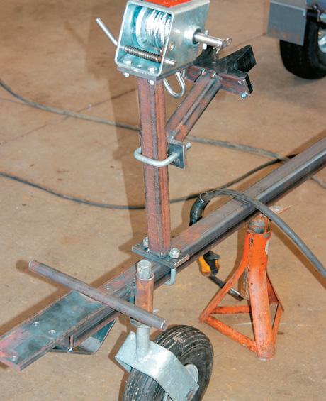 Handle and jockey wheel pipe welded