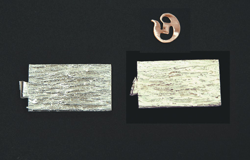 Textured sterling silver casting