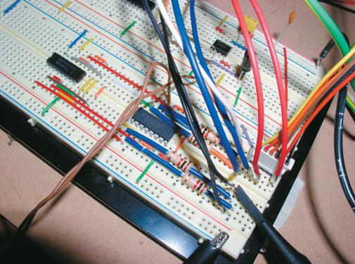 """bread board"" mock-up of circuit"