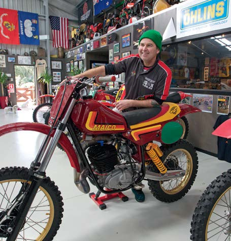 The 250cc, 1981 Mega2 Maico, one of Steve's favourites, voted the world's best motocross bike in its day.