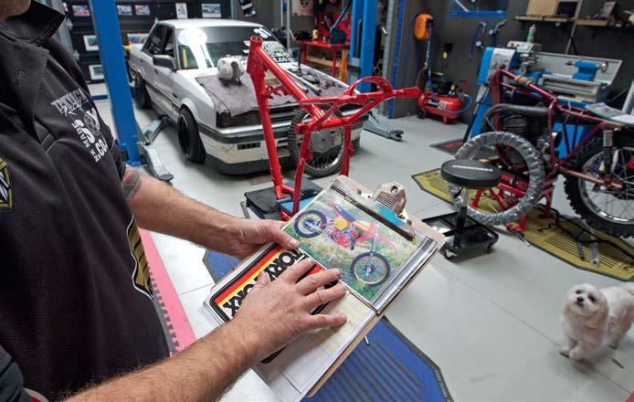 Honda CR 250 RZ under restoration...