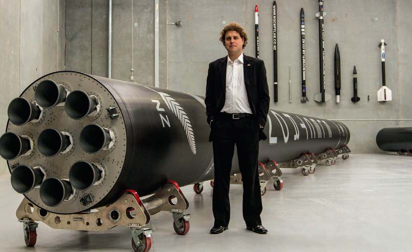 Peter Beck of Rocket Lab… Most Inspiring Individual Award.