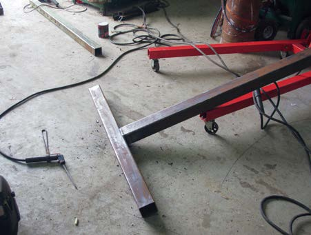 T-Bar welded on square