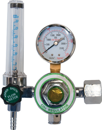CO2 regulator and flow meter