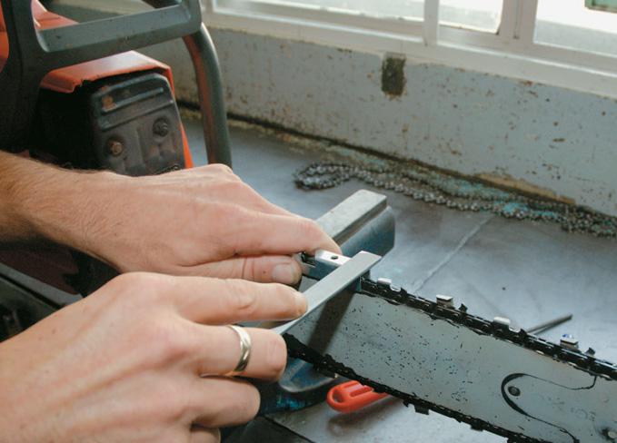 Filing the depth gauge