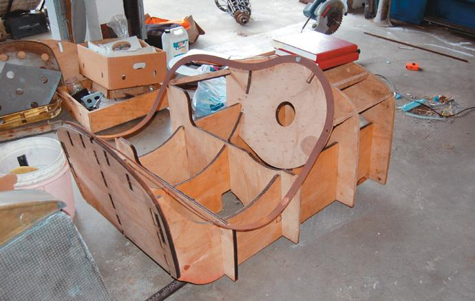 Plywood buck for cockpit
