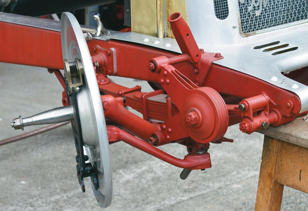 Front suspension detail