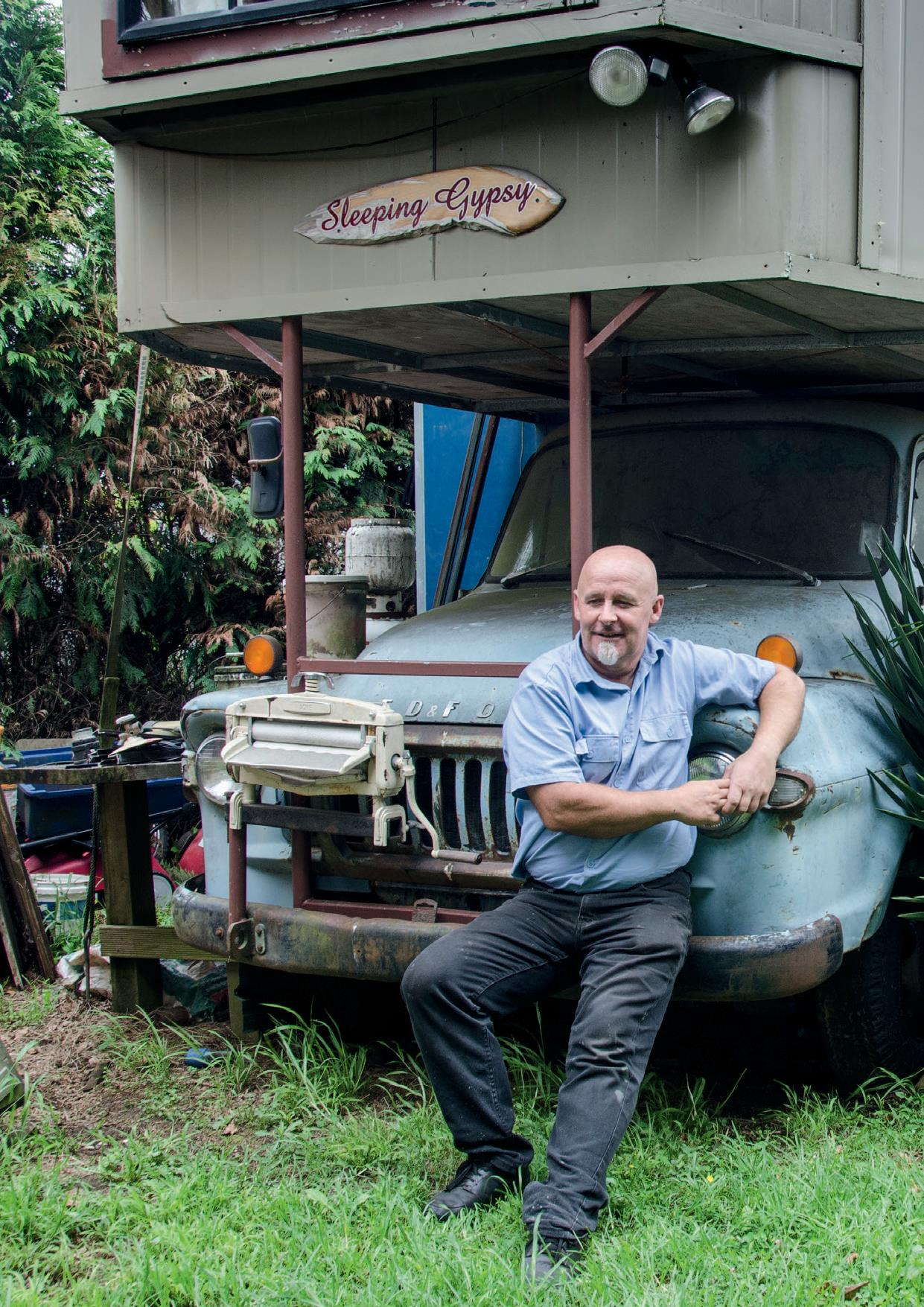 Stuart Guy with his house truck