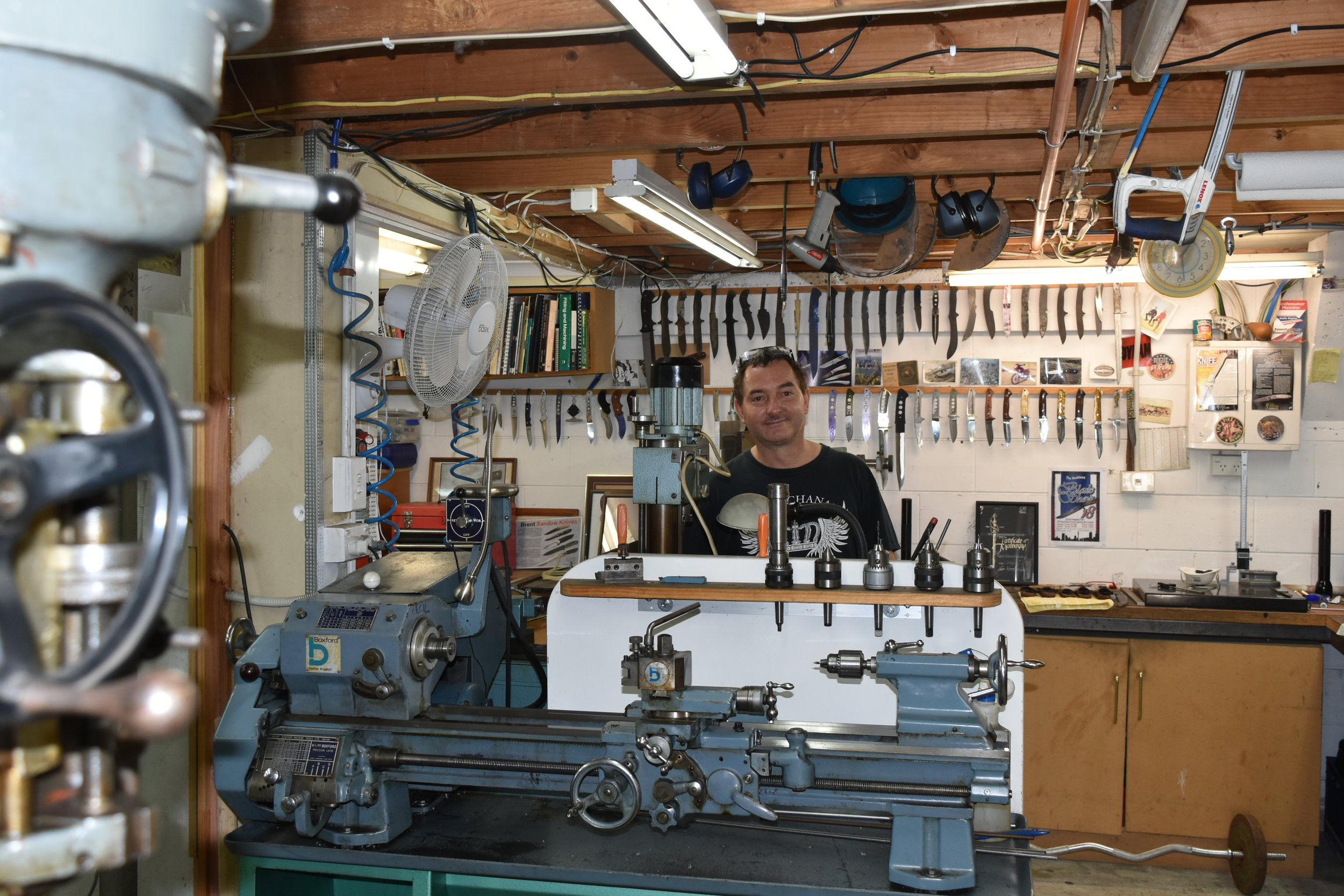We were very impressed with Brent's workshop and set up