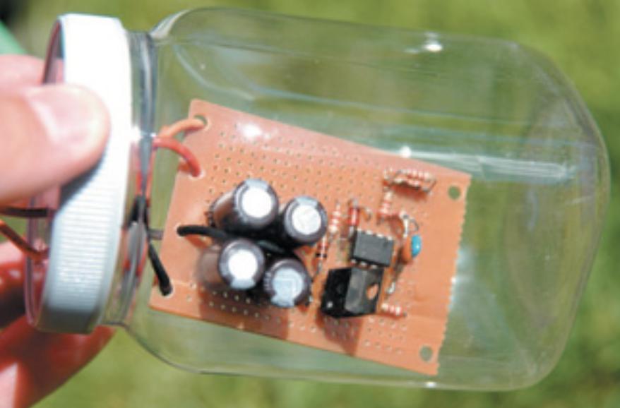 Electronics in a bottle