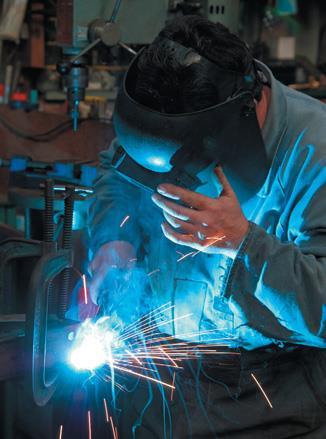 Tack-weld drawbar to front beams.