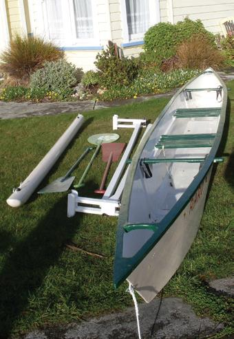 Ama (outrigger float), rigging spars, paddles…