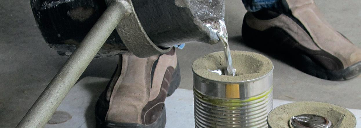 Extended sprue (entry port) increases weight of molten metal.