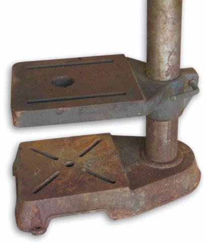 The drill press as it was, prior to refurbishment