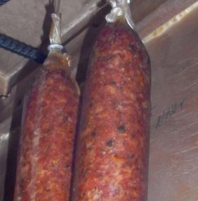Salami all ready to go