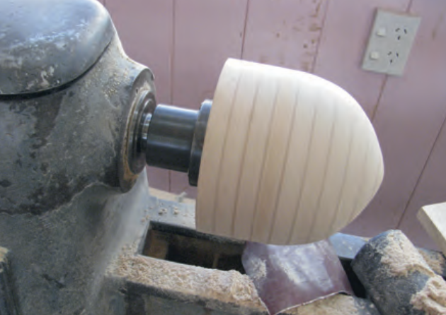 Nose cone mould on the lathe and…