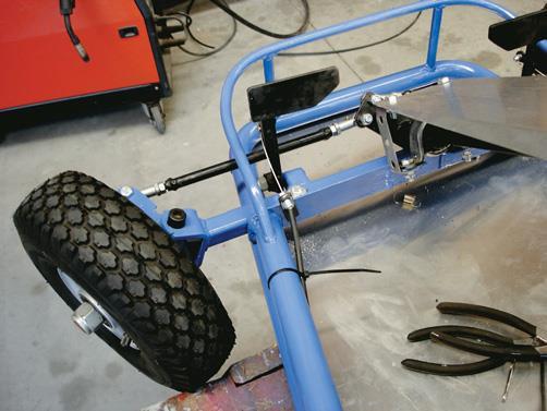 Brake pedal mounted.