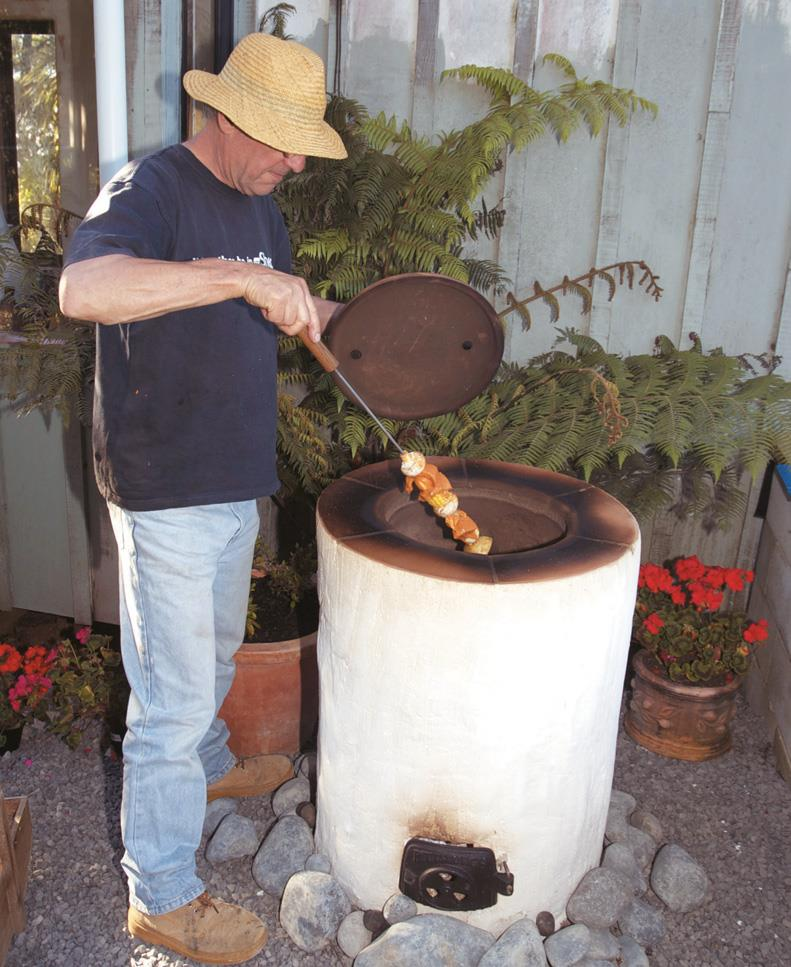 Robin Overall cooking with the tandoor.