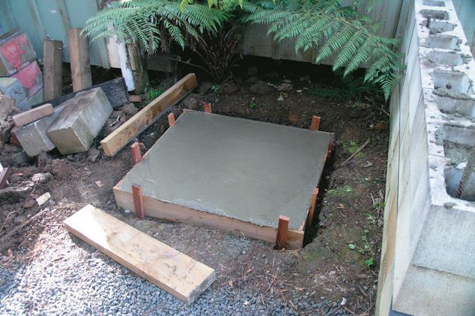 Concrete base.