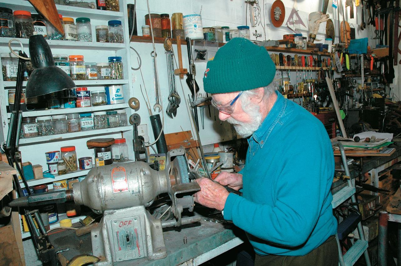 Len sharpening drills.