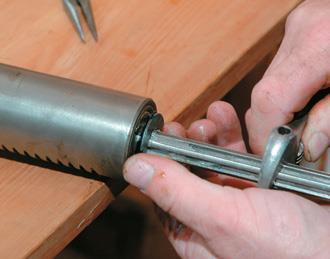 Undoing the bearing nut