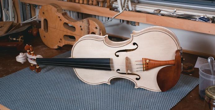 White violin.