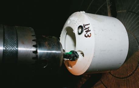 Countersink cap holes
