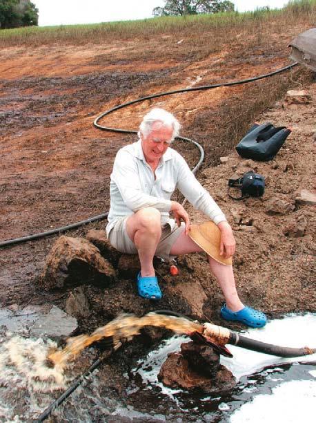 Jan van der Linden runs his water ram test