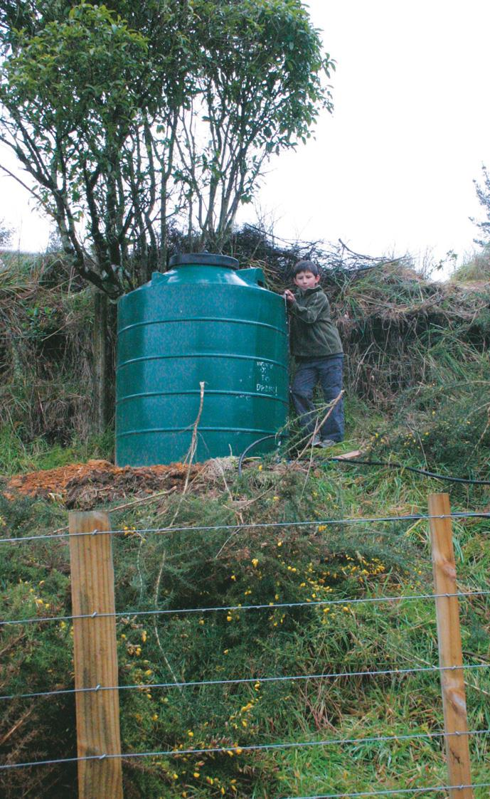 Pete Chandler's top tank fed by water ram