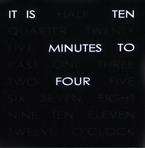 Word Clock tells the time...