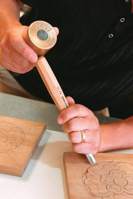 Anchoring while using mallet.
