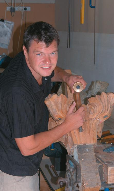 Mike Davies works on a commission.