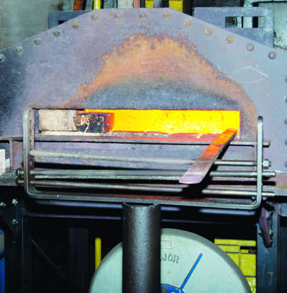 Tapering a bar by heating…