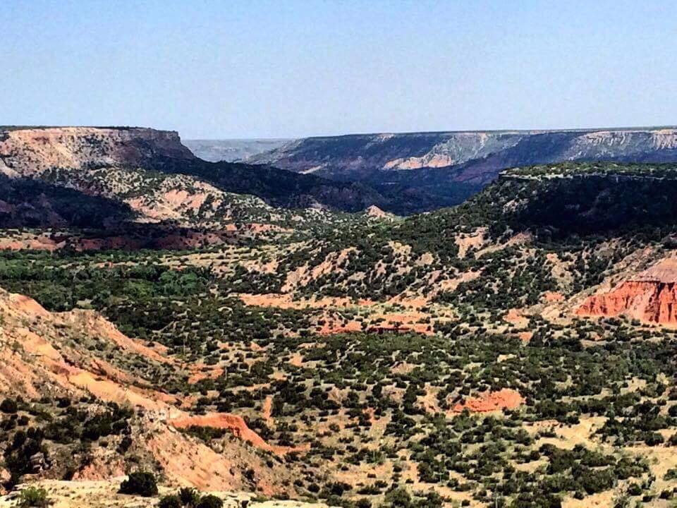 The breathtaking Palo Duro Canyon.