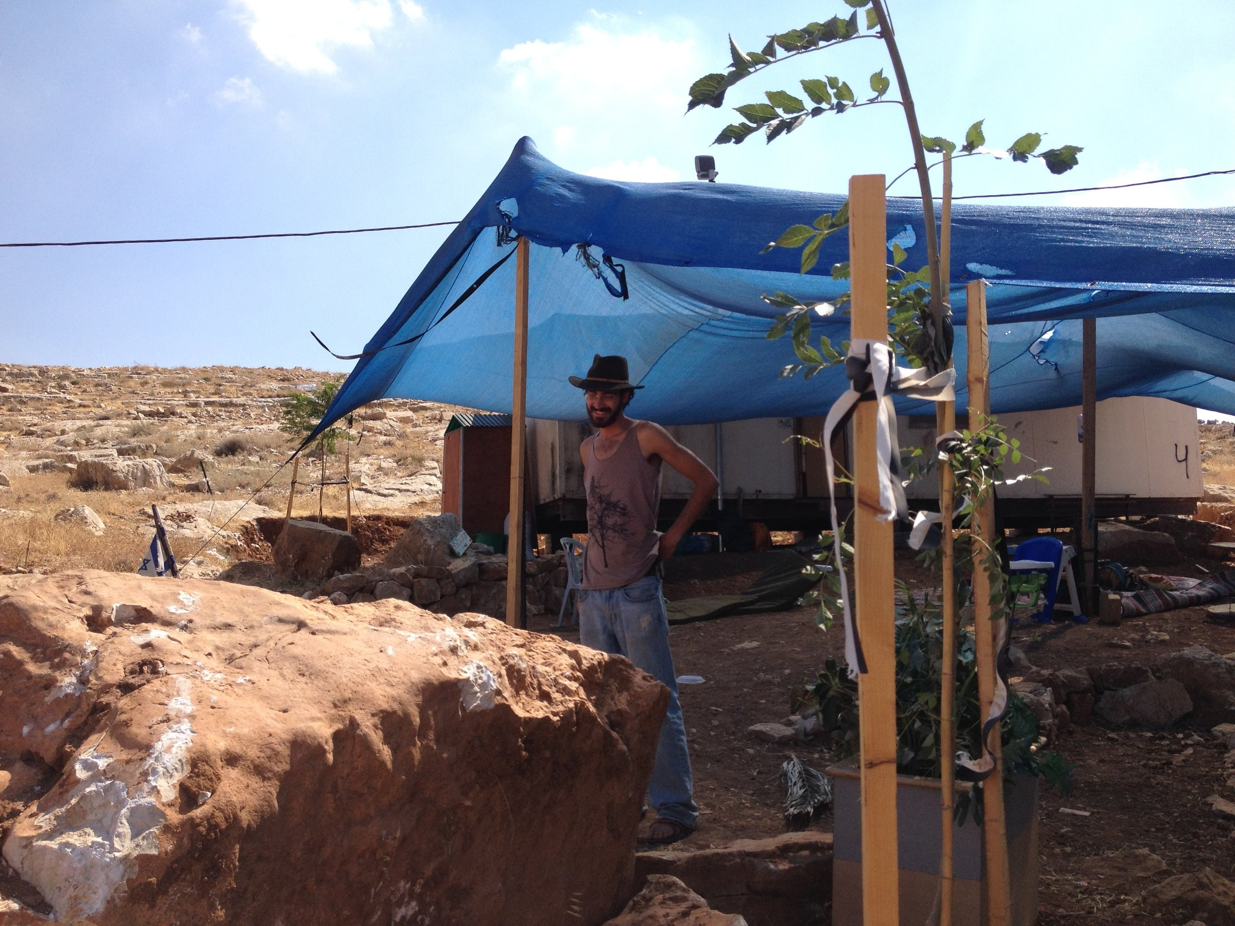 Tekoa He outpost in the eastern Gush Etzion settlement bloc, July 2014