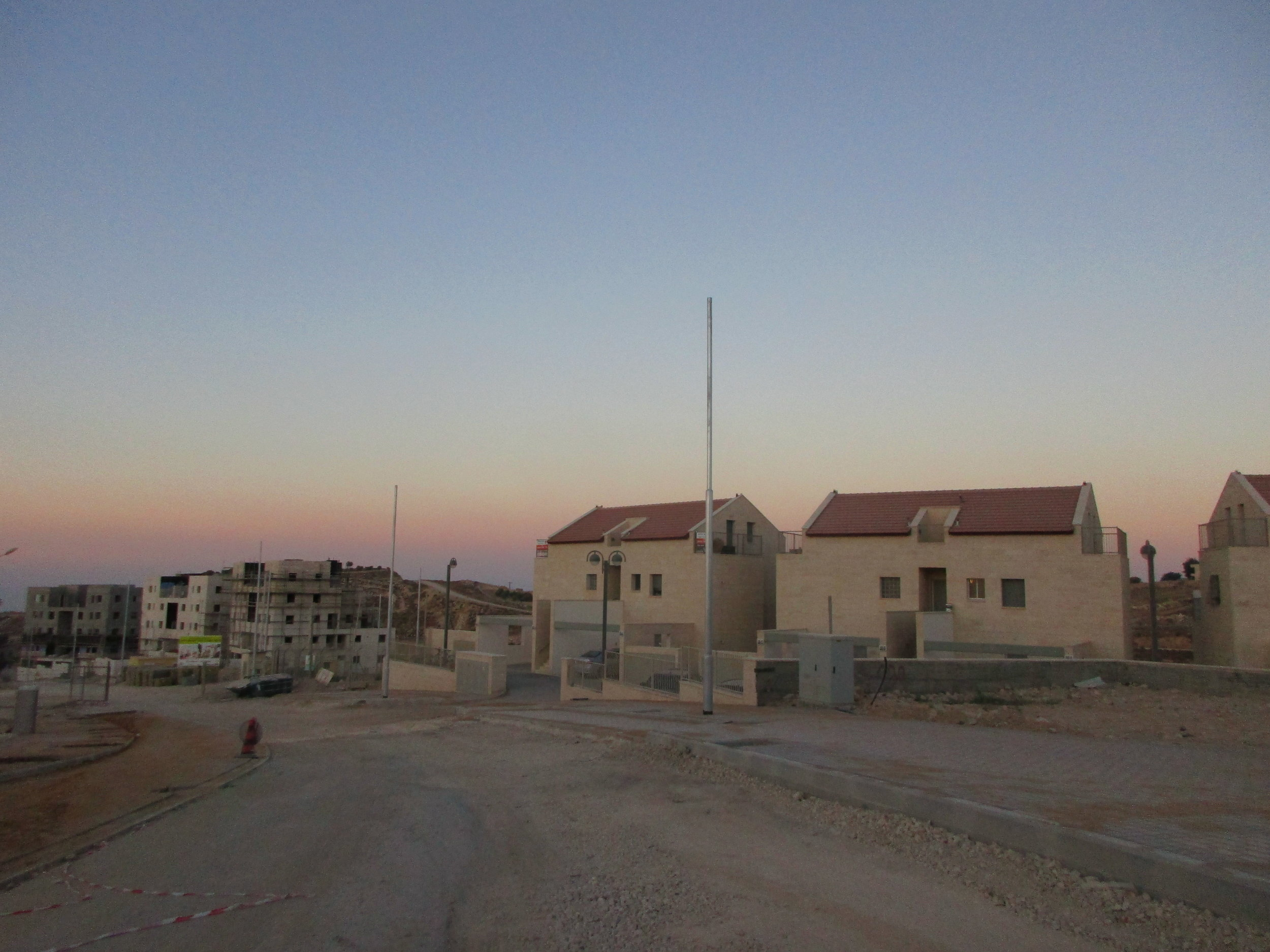 New settlement construction in Efrat in the Gush Etzion settlement bloc, July 2015