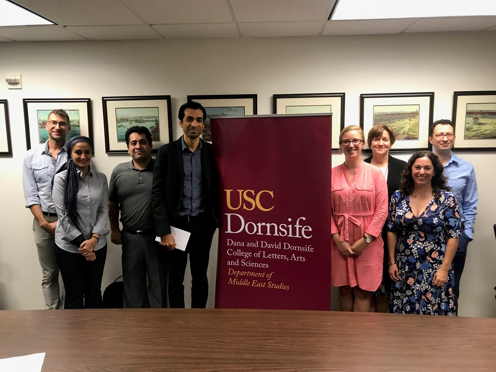 Faculty and Staff of the Department of Middle East Studies, USC.