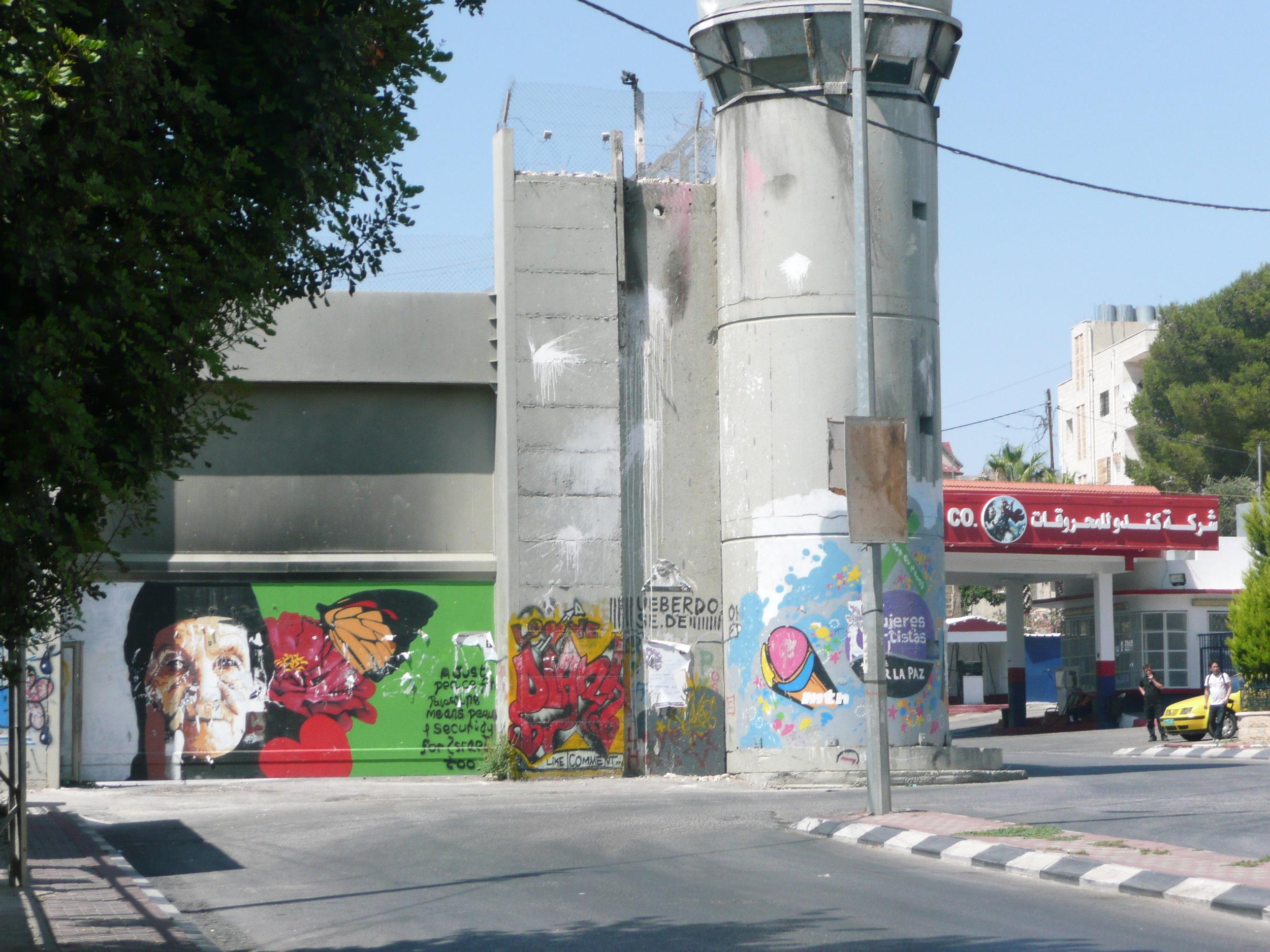 Israeli Separation Barrier in Bethlehem, 2011.