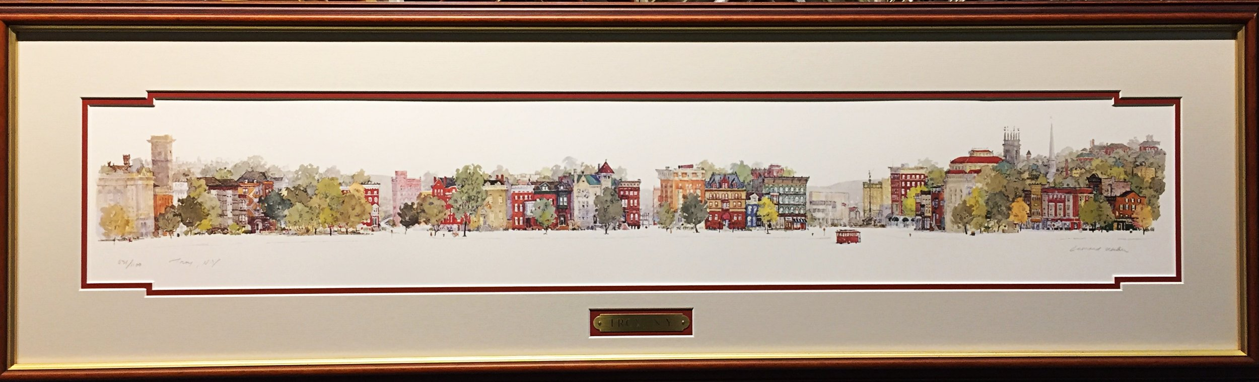 Troy Townscape by Leonard Weber