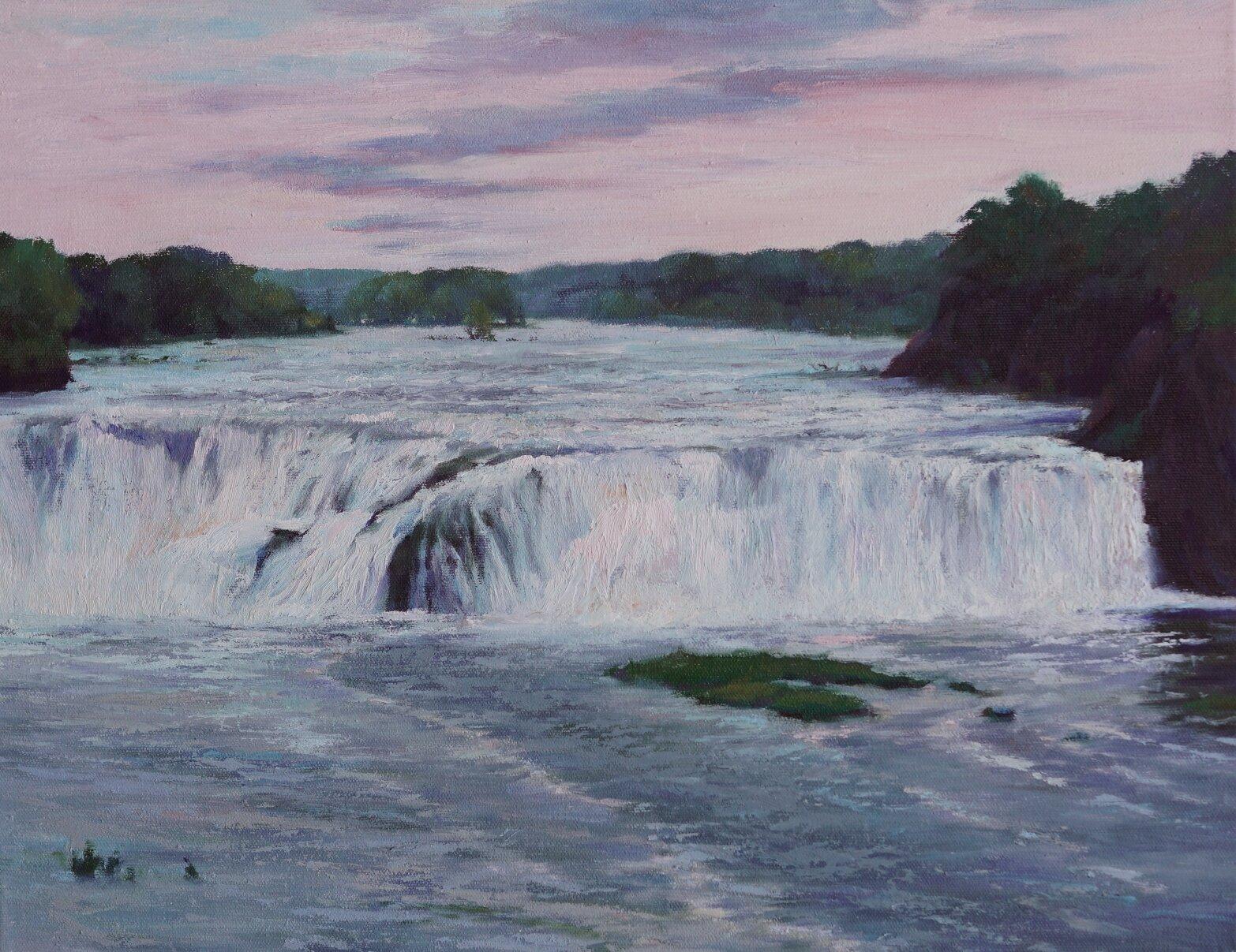 Mohawk Descent (Cohoes Falls) 14x18 $1,100