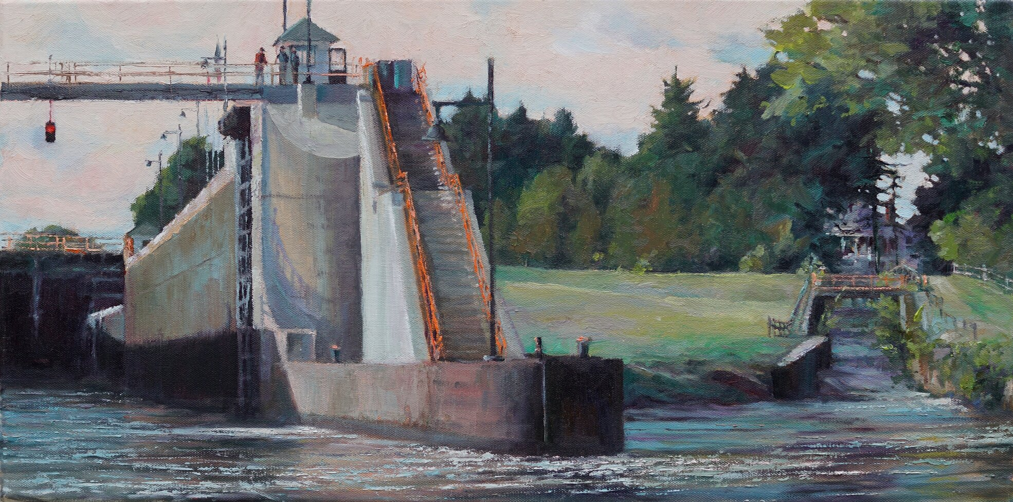 Lock 2 at Waterford 12x24 $1,600