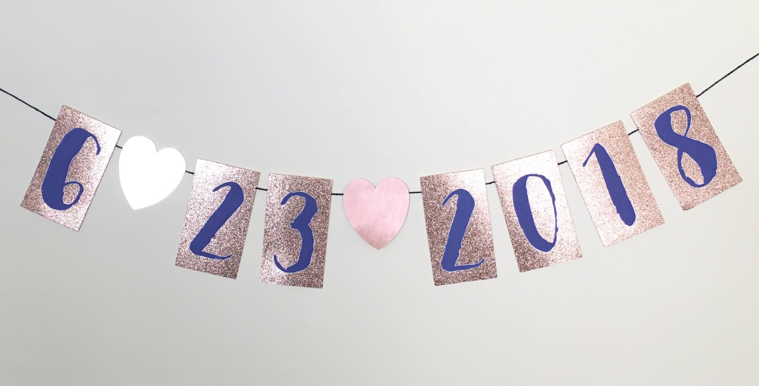 diy save the date banner