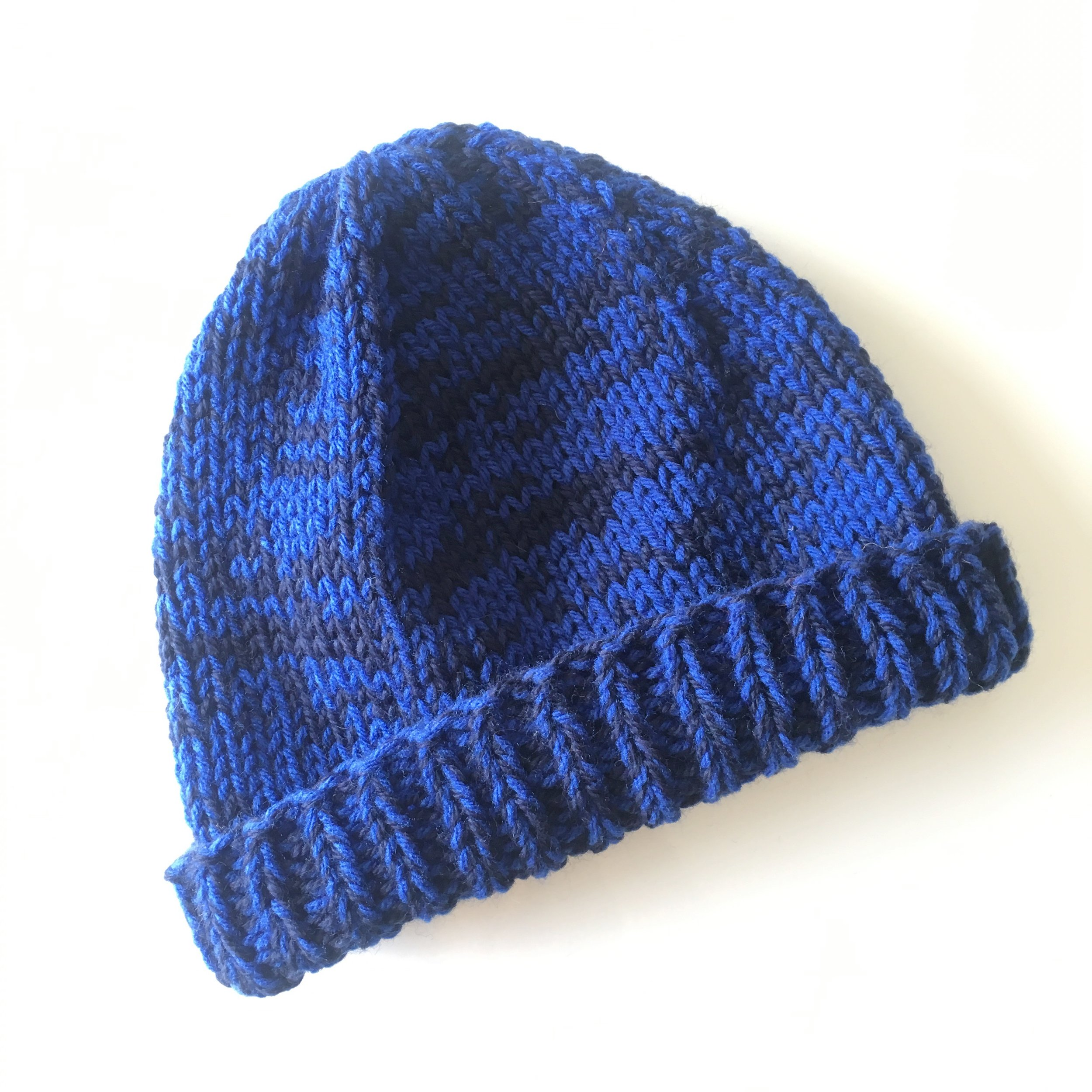 blue/navy custom two tone wool hat by elisemade