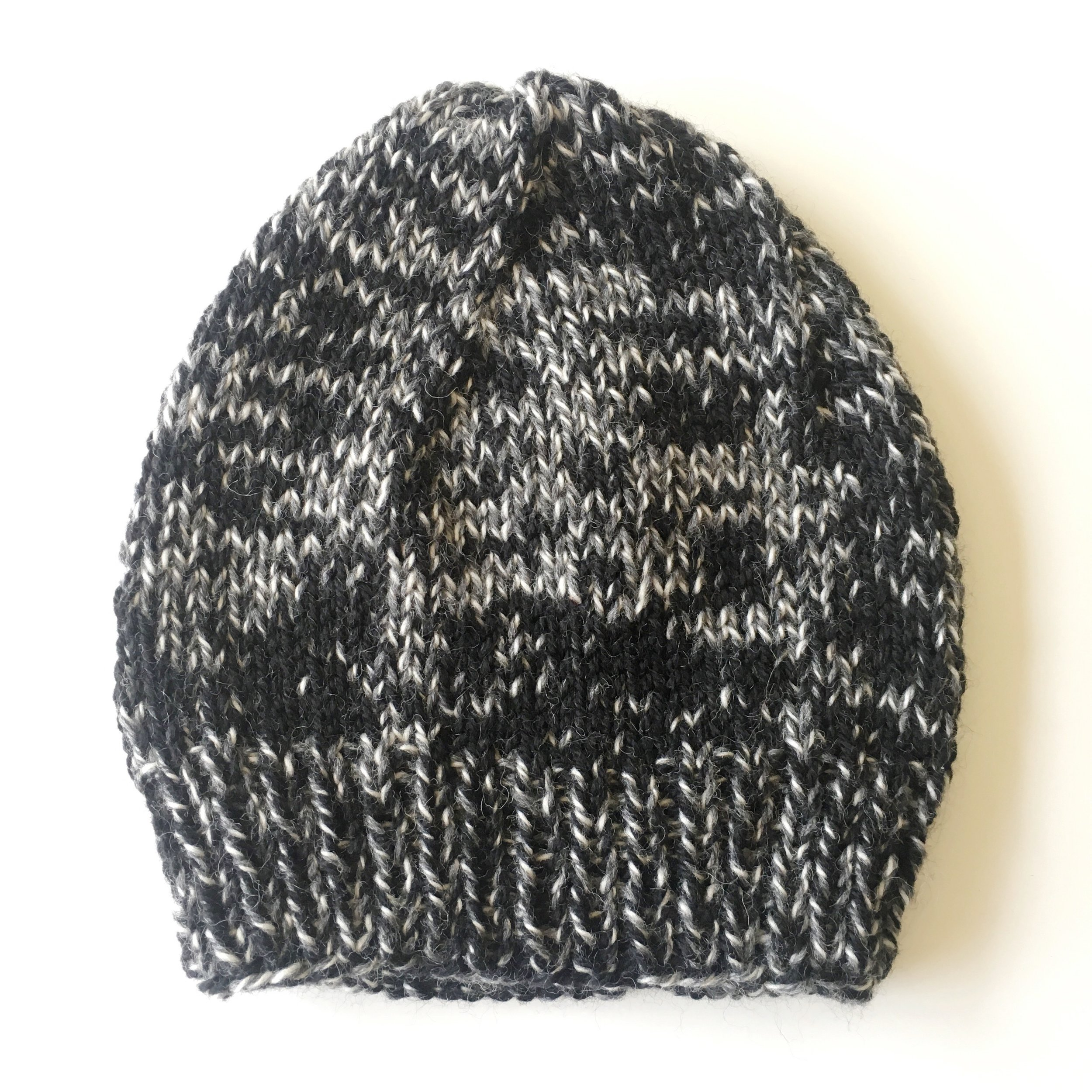 black/charcoal two tone wool knit hat by elisemade